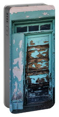 Portable Battery Charger featuring the photograph Vintage Turquoise Door  by Saija Lehtonen