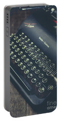 Portable Battery Charger featuring the photograph Vintage Typewriter Faded Film by Edward Fielding