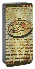Vintage Virgo Token Scroll Portable Battery Charger
