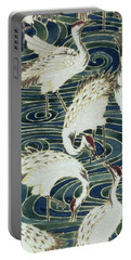 Vintage Wallpaper Design Portable Battery Charger