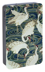 Vintage Wallpaper Design Portable Battery Charger by English School