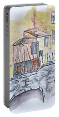 Portable Battery Charger featuring the painting Vintage Wash Day by Clyde J Kell