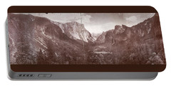 Portable Battery Charger featuring the photograph Vintage Yosemite Valley 1899 by John Stephens