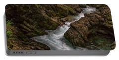 Portable Battery Charger featuring the photograph Vintgar Gorge Rapids - Slovenia by Stuart Litoff