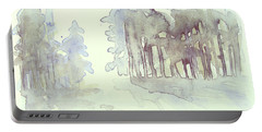 Vintrig Skogsglanta, A Wintry Glade In The Woods 2,83 Mb_0047 Up To 60 X 40 Cm Portable Battery Charger