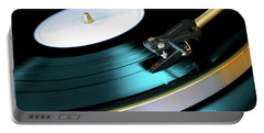 Vinyl Record Portable Battery Charger by Carlos Caetano