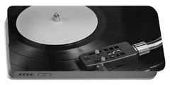Vinyl Record Playing On A Turntable Overview Portable Battery Charger