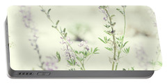 Violet And Green Bloom Portable Battery Charger