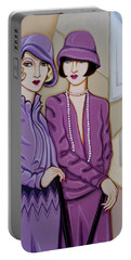 Violet And Rose Portable Battery Charger by Tara Hutton