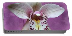 Violet Colored Lauritzen Orchid Portable Battery Charger