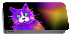 Violet Dizzycat Portable Battery Charger