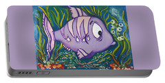 Violet Fish Portable Battery Charger