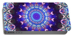 Portable Battery Charger featuring the digital art Violet Lace by Shawna Rowe