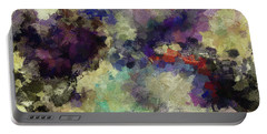 Portable Battery Charger featuring the painting Violet Landscape Painting by Ayse Deniz