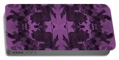Violet Oak Tree Pattern Portable Battery Charger