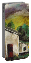 Portable Battery Charger featuring the painting Violet Summer by John Williams