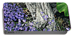 Violets At My Feet Portable Battery Charger by Sarah Loft