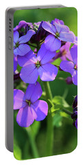 Purple Flower Portable Battery Charger