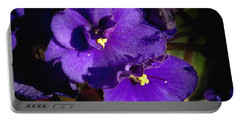 Portable Battery Charger featuring the photograph Violets by Phyllis Denton