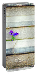 Portable Battery Charger featuring the photograph Violets    by Silvia Ganora