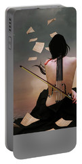 Violin Woman Portable Battery Charger