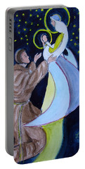 Virgin Mary With Jesus And St Anthony Portable Battery Charger