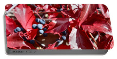 Portable Battery Charger featuring the photograph Virginia Creeper by Linda Bianic