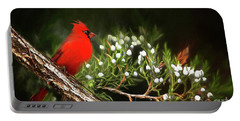 Virginia State Bird Portable Battery Charger by Darren Fisher