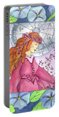 Portable Battery Charger featuring the painting Virgo by Cathie Richardson