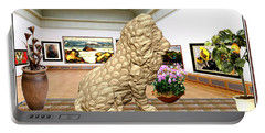 Virtual Exhibition - Statue Of A Lion Portable Battery Charger