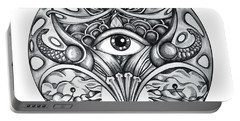 Portable Battery Charger featuring the drawing Vision by Shadia Derbyshire