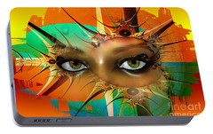 Portable Battery Charger featuring the digital art Vision by Shadowlea Is