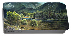 Vista View Of Cannon Mountain Portable Battery Charger