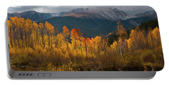 Portable Battery Charger featuring the photograph Vivid Autumn Aspen And Mountain Landscape by Cascade Colors
