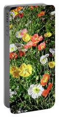 Vivid Mix Of California Poppies Portable Battery Charger