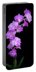 Vivid Purple Orchids Portable Battery Charger