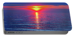 Vivid Sunset - Emerson Quote - Square Format Portable Battery Charger by Ginny Gaura