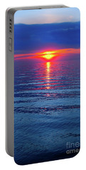 Vivid Sunset Portable Battery Charger by Ginny Gaura