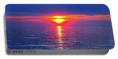 Vivid Sunset - Square Format Portable Battery Charger by Ginny Gaura
