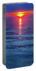 Vivid Sunset - Vertical Format Portable Battery Charger by Ginny Gaura
