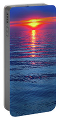 Vivid Sunset With Emerson Quote - Vertical Format Portable Battery Charger by Ginny Gaura