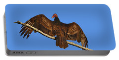 Portable Battery Charger featuring the photograph Vivid Vulture .png by Al Powell Photography USA