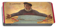 Vlissinger Post Route - Zeeland Maritime Company Poster - London To Flushing Ship Route Portable Battery Charger