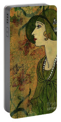 Vogue Twenties Portable Battery Charger by P J Lewis