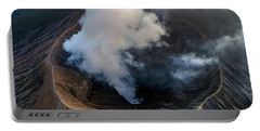 Volcanic Crater From Above Portable Battery Charger