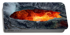 Volcanic Eruption Portable Battery Charger by Anthony Dezenzio