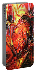 Volcanic Fire Portable Battery Charger by Angela Stout