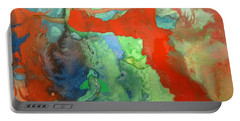 Volcanic Island Portable Battery Charger by Mary Ellen Frazee