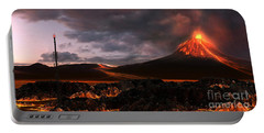 Volcanic Landscape Portable Battery Charger
