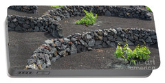 Volcanic Vineyards Portable Battery Charger by Delphimages Photo Creations